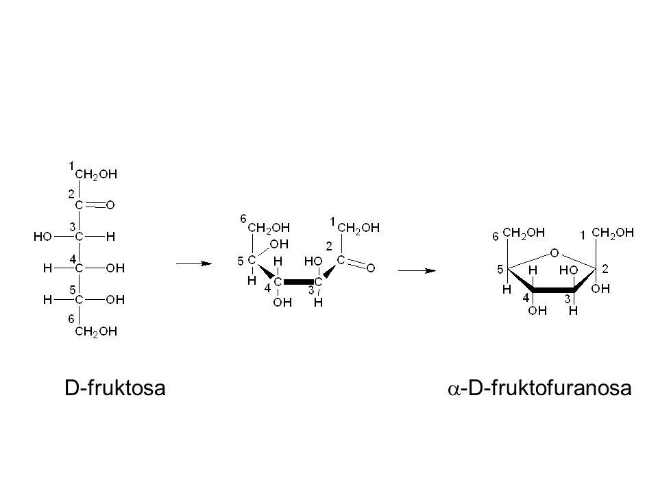 D-fruktosa  -D-fruktofuranosa