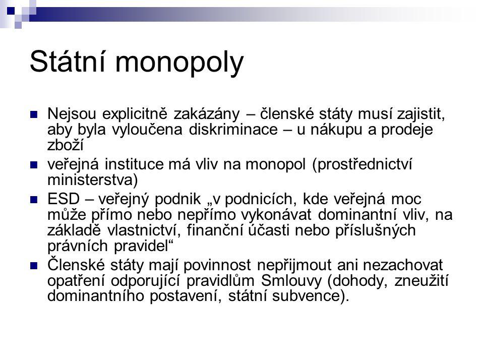 Podniky poskytující služby obecného hospodářského zájmu Čl.