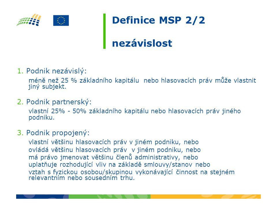 Definice MSP 2/2 nezávislost 1.