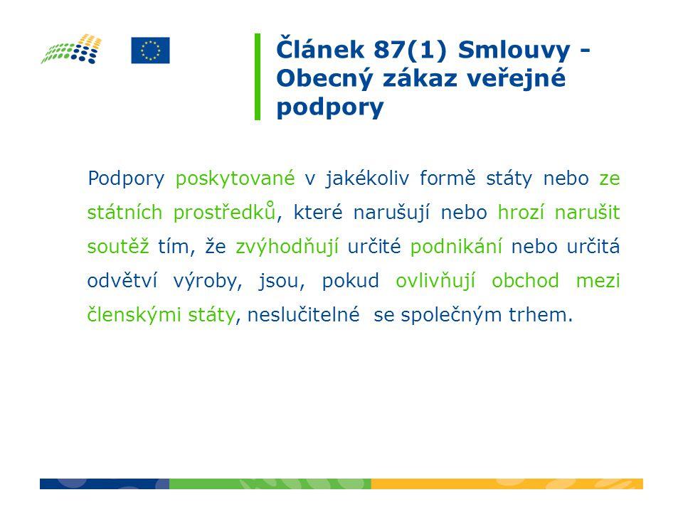 Veřejná podpora (4 znaky) podle čl.87 odst.