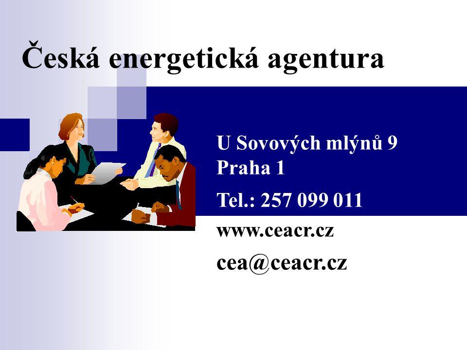 Česká energetická agentura U Sovových mlýnů 9 Praha 1 Tel.: 257 099 011 www.ceacr.cz cea@ceacr.cz