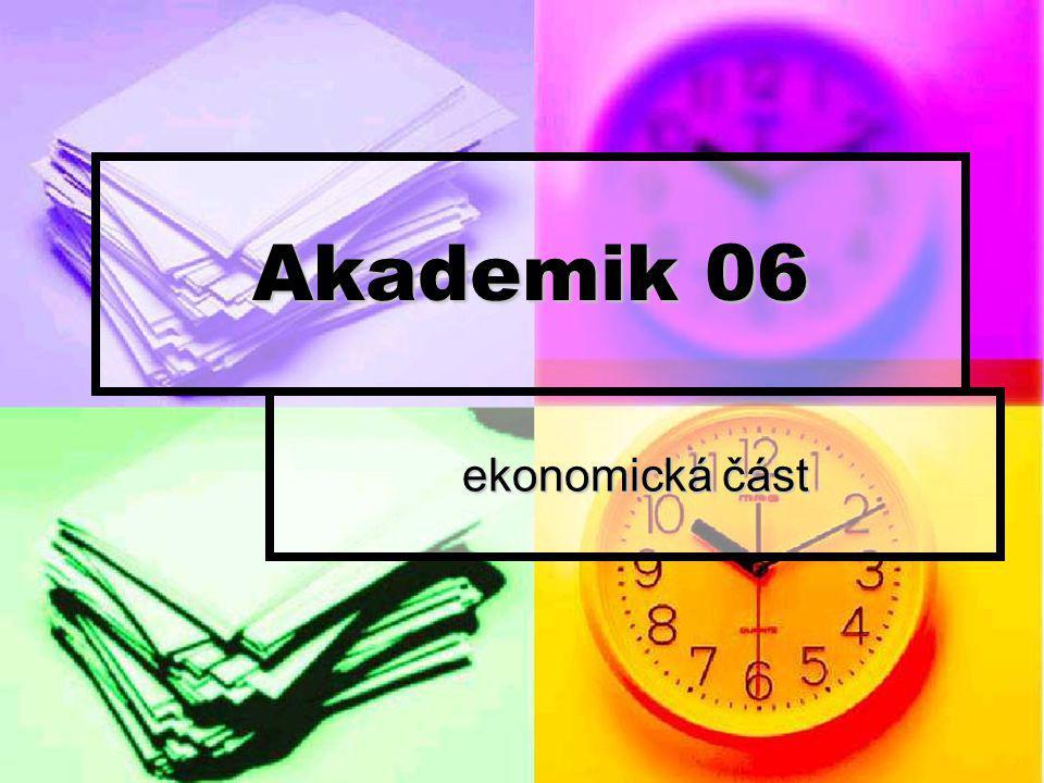 Akademik 06 ekonomická část