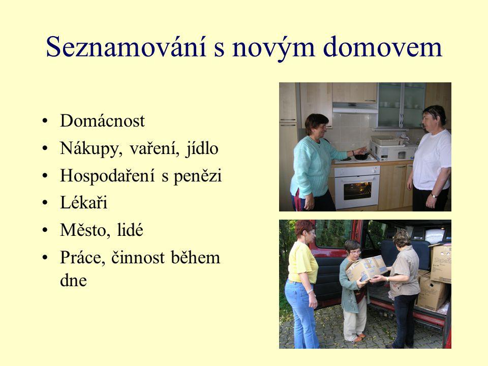 Seznamování s novým domovem Domácnost Nákupy, vaření, jídlo Hospodaření s penězi Lékaři Město, lidé Práce, činnost během dne