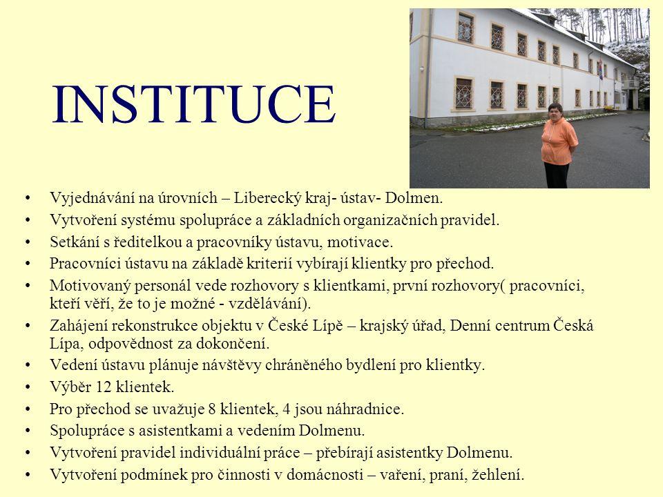 Vyjednávání na úrovních – Liberecký kraj- ústav- Dolmen.