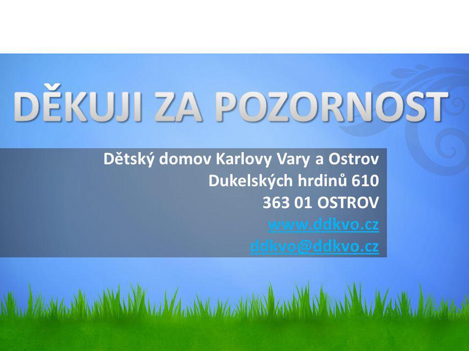 Dětský domov Karlovy Vary a Ostrov Dukelských hrdinů 610 363 01 OSTROV www.ddkvo.cz ddkvo@ddkvo.czwww.ddkvo.cz ddkvo@ddkvo.cz