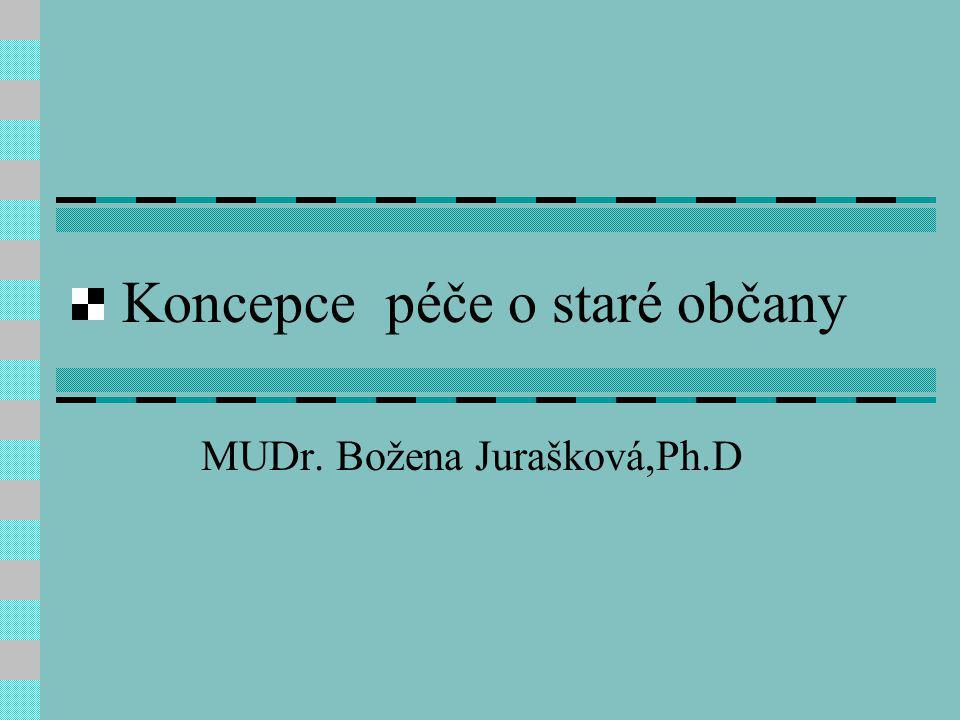 Koncepce péče o staré občany MUDr. Božena Jurašková,Ph.D