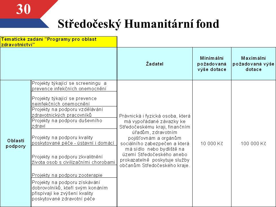30 Středočeský Humanitární fond