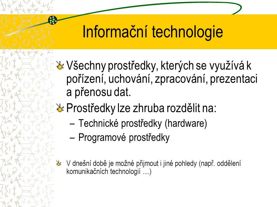 poslové, donašeči, papír a tužka podniková organizační struktura (kartotéka, účetní knihy, …) Hromadné zpracování dat (60. léta – velké počítače) IS p