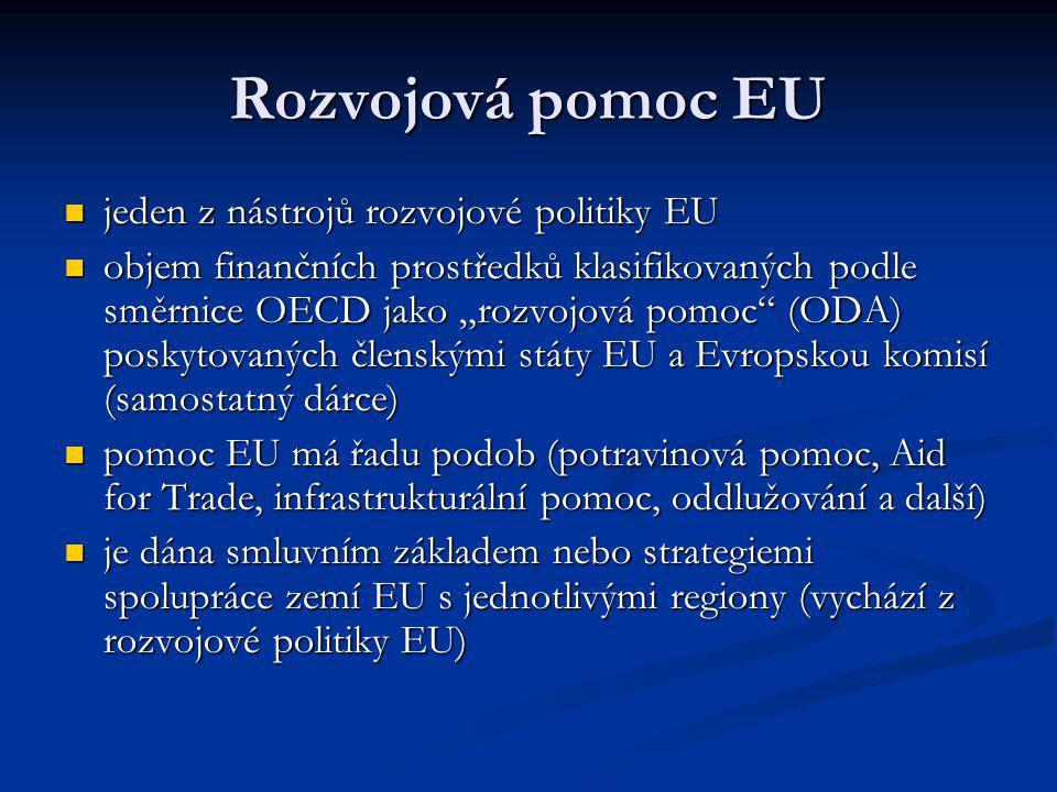 EU jako největší poskytovatel rozvojové pomoci na světě (2007, v mil. USD) 2