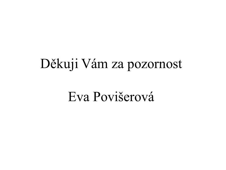 Děkuji Vám za pozornost Eva Povišerová
