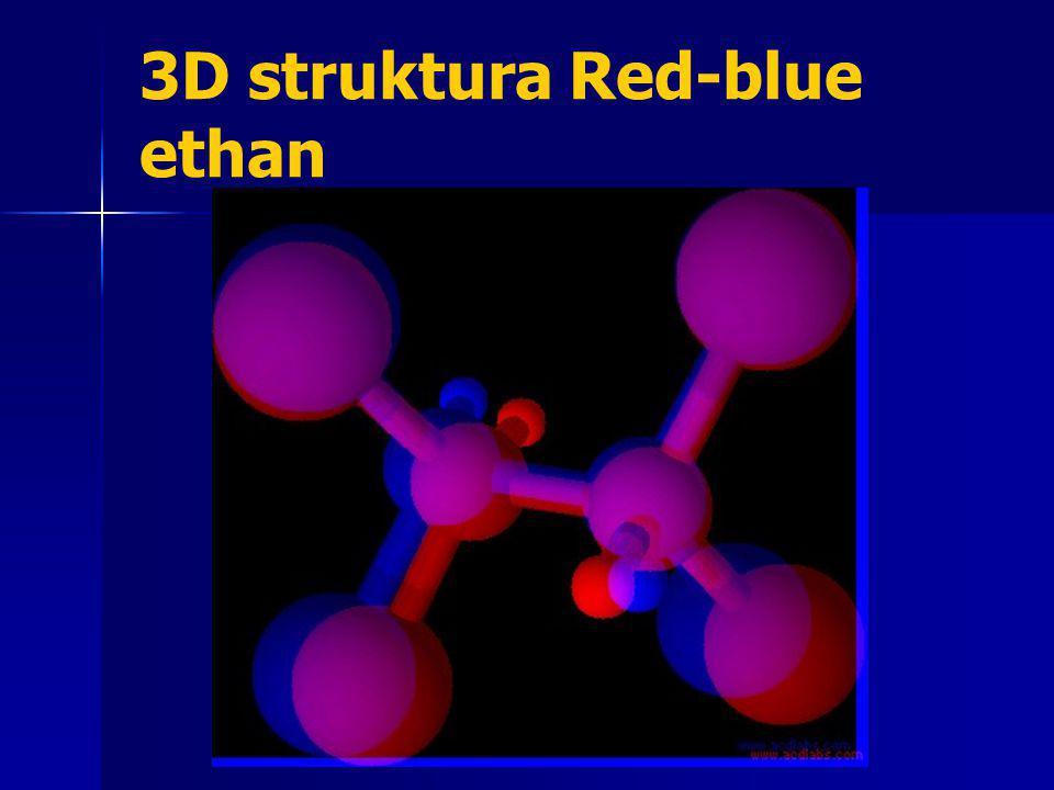 3D struktura Red-blue ethan