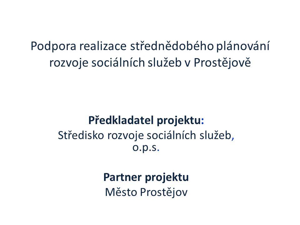 Podpora realizace střednědobého plánování rozvoje sociálních služeb v Prostějově Předkladatel projektu: Středisko rozvoje sociálních služeb, o.p.s.