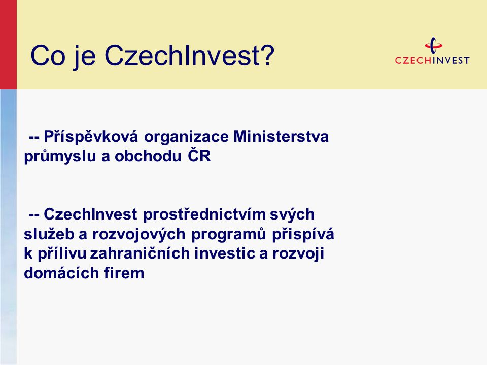 Co je CzechInvest.