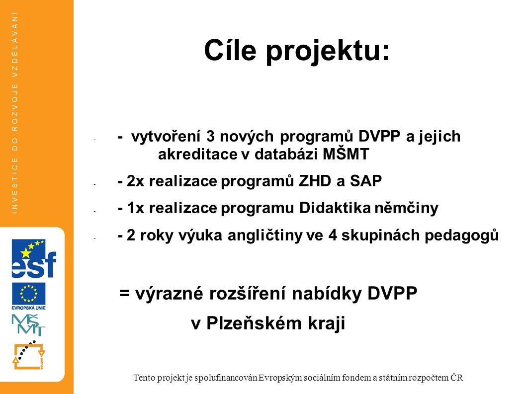 Harmonogram KA: březen – září 2013 – tvorba 3 nových programů DVPP září 2013 – červen 2014 – 1.