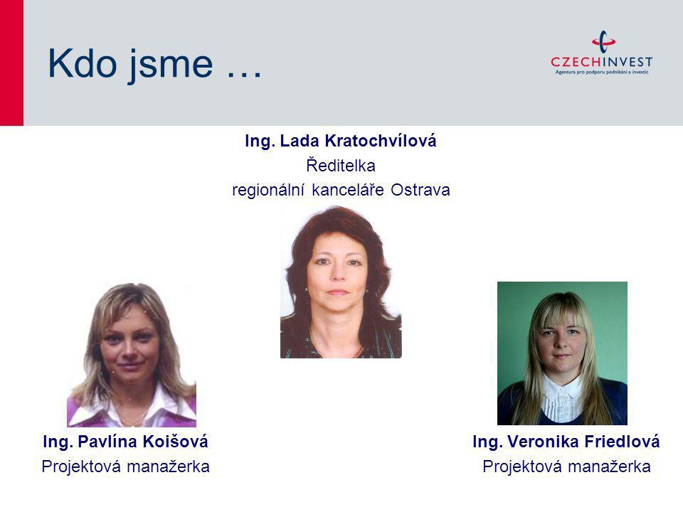 Kdo jsme … Ing.Lada Kratochvílová Ředitelka regionální kanceláře Ostrava Ing.