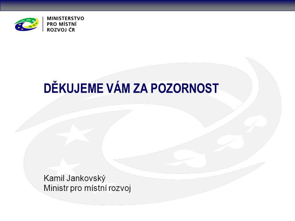DĚKUJEME VÁM ZA POZORNOST Kamil Jankovský Ministr pro místní rozvoj