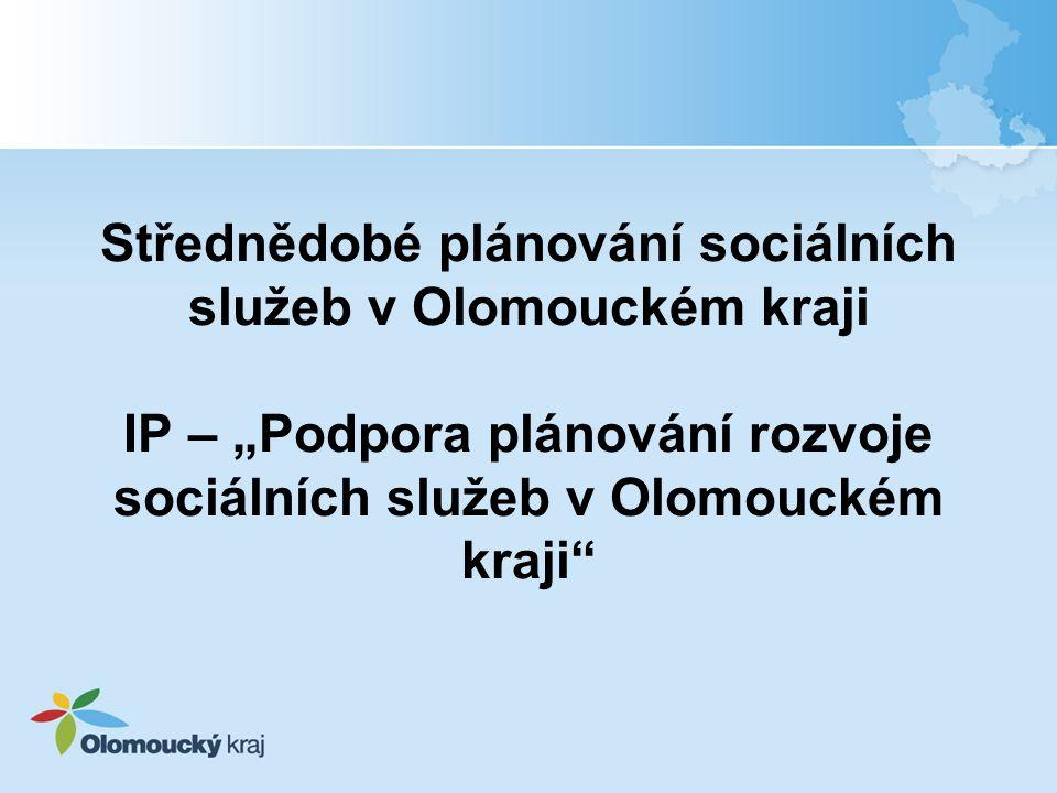 """Střednědobé plánování sociálních služeb v Olomouckém kraji IP – """"Podpora plánování rozvoje sociálních služeb v Olomouckém kraji"""