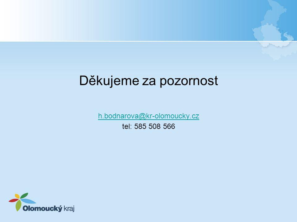 Děkujeme za pozornost h.bodnarova@kr-olomoucky.cz tel: 585 508 566