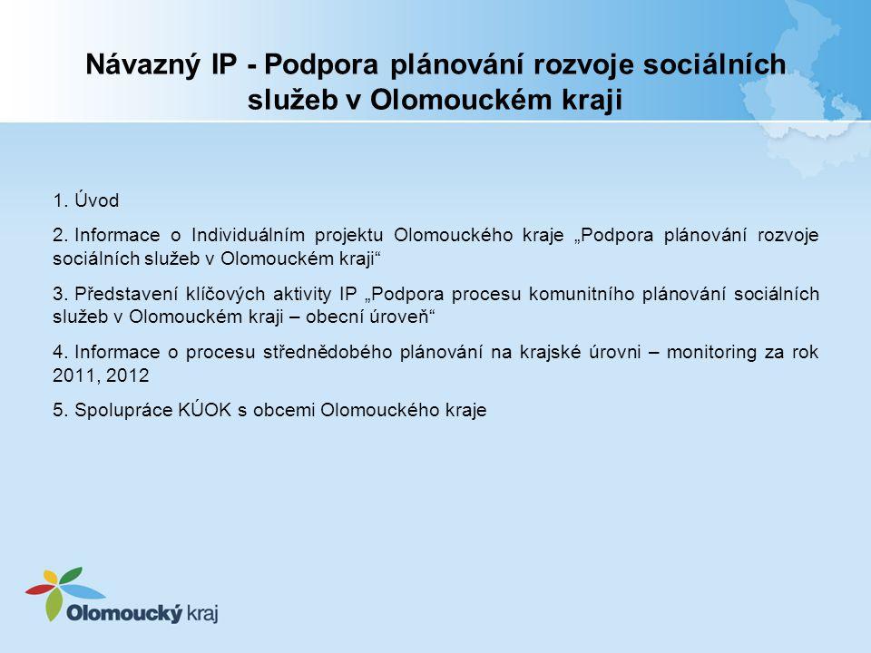 Návazný IP - Podpora plánování rozvoje sociálních služeb v Olomouckém kraji 1.