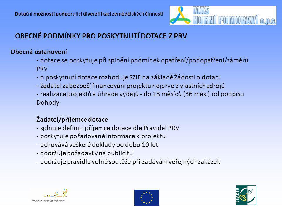 Dotační možnosti podporující diverzifikaci zemědělských činností PROJEKTOVÉ ZÁMĚRY A SOULAD SE SPL Horní Pomoraví Fiche č.1: Regionální produkce – zdroj rozvoje regionu Opatření I.1.1.1.