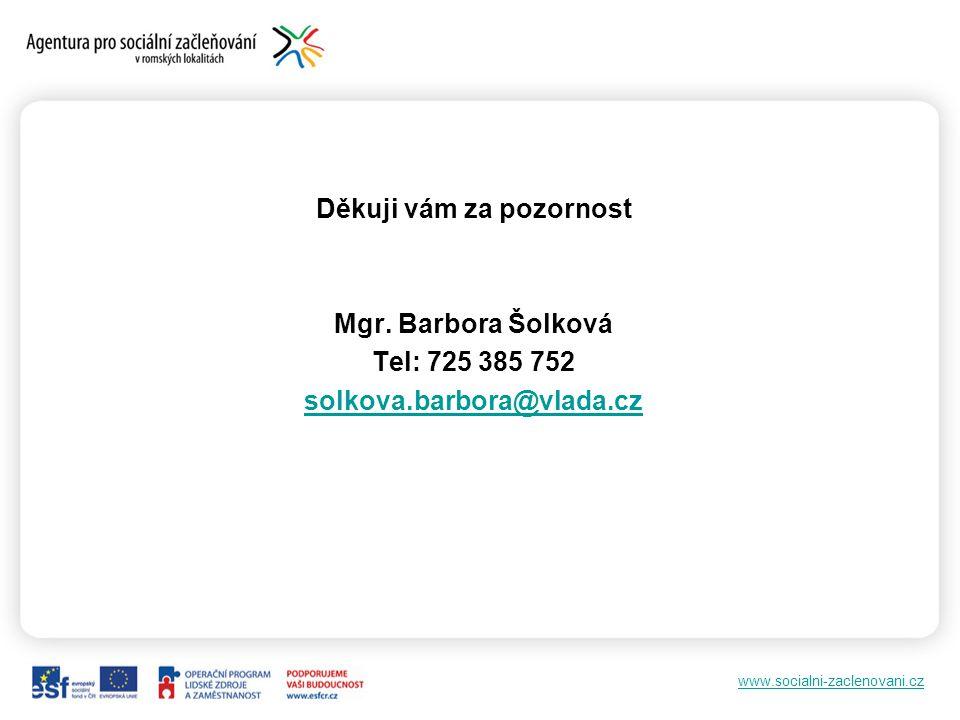 www.socialni-zaclenovani.cz Děkuji vám za pozornost Mgr.