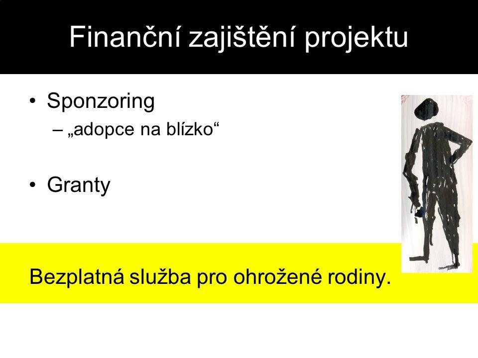 """Finanční zajištění projektu Sponzoring –""""adopce na blízko"""" Granty Bezplatná služba pro ohrožené rodiny."""