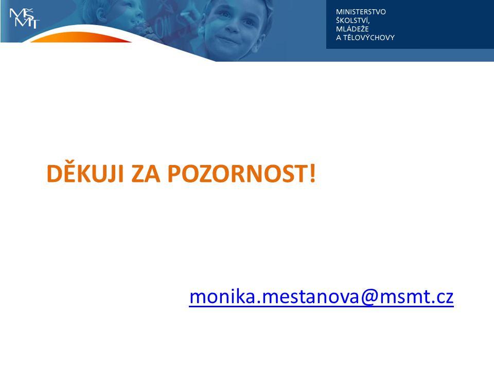 monika.mestanova@msmt.cz DĚKUJI ZA POZORNOST!