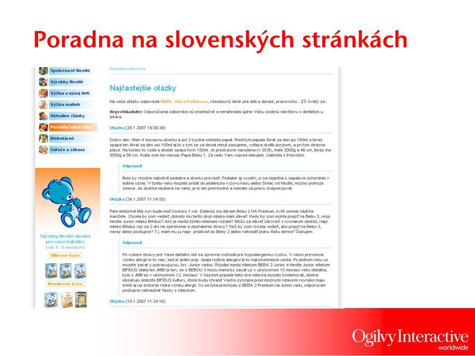Poradna na slovenských stránkách