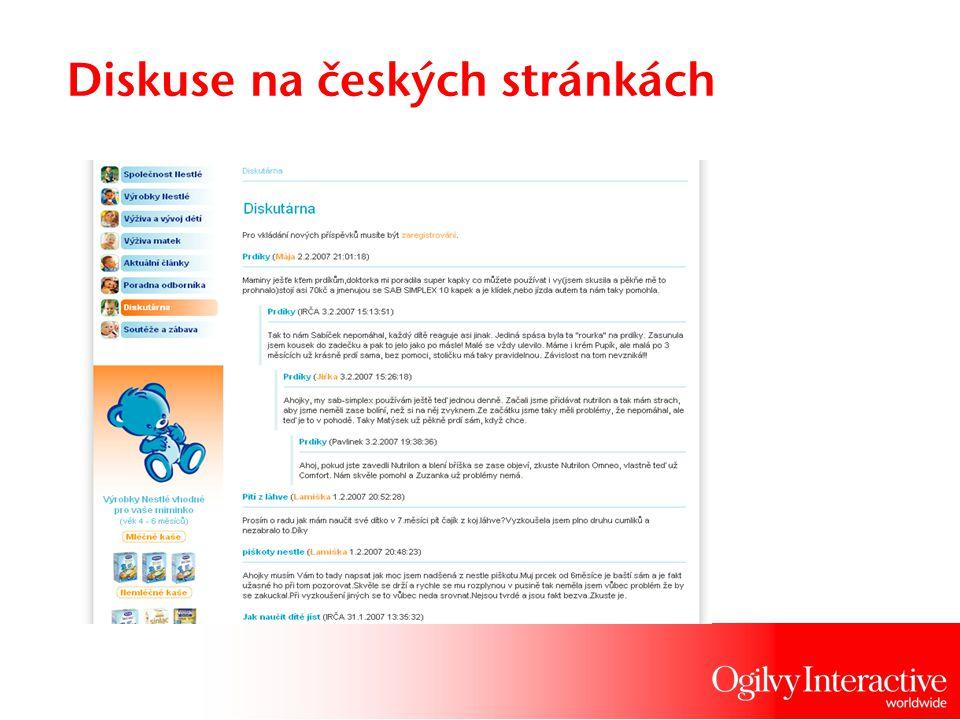 Diskuse na českých stránkách