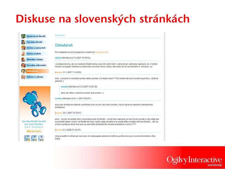Diskuse na slovenských stránkách