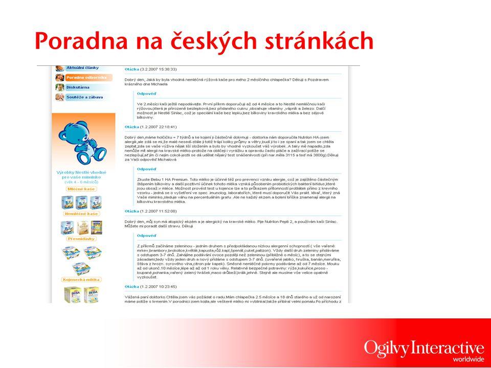 Poradna na českých stránkách