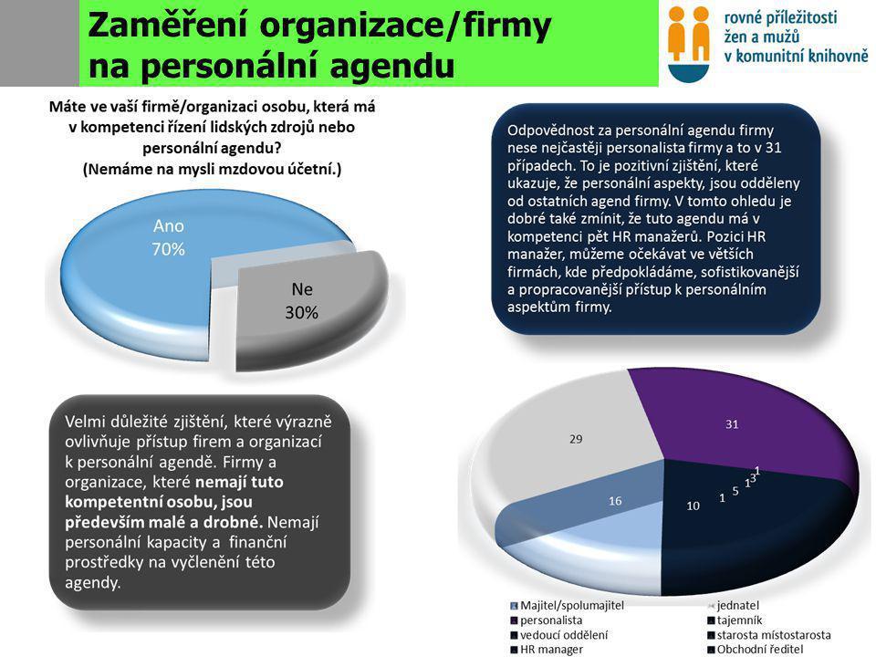 Obecný přístup organizací k personální politice