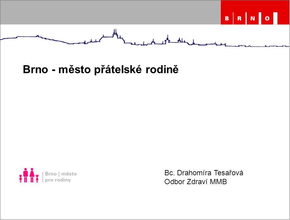 Brno - město přátelské rodině Bc. Drahomíra Tesařová Odbor Zdraví MMB