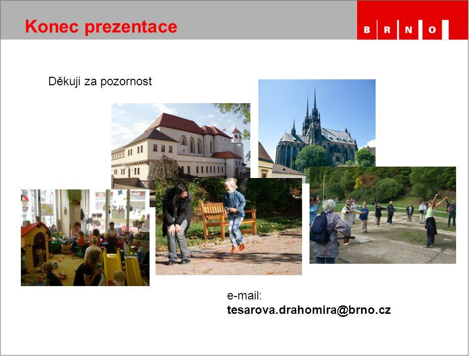 Konec prezentace Děkuji za pozornost e-mail: tesarova.drahomira@brno.cz
