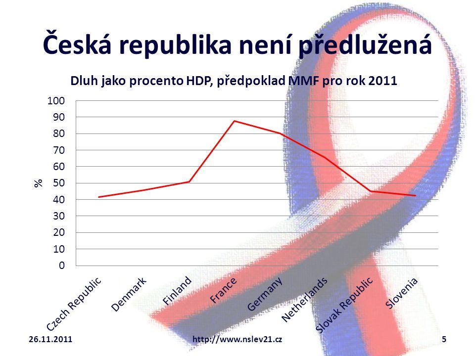Česká republika není předlužená 26.11.2011http://www.nslev21.cz5