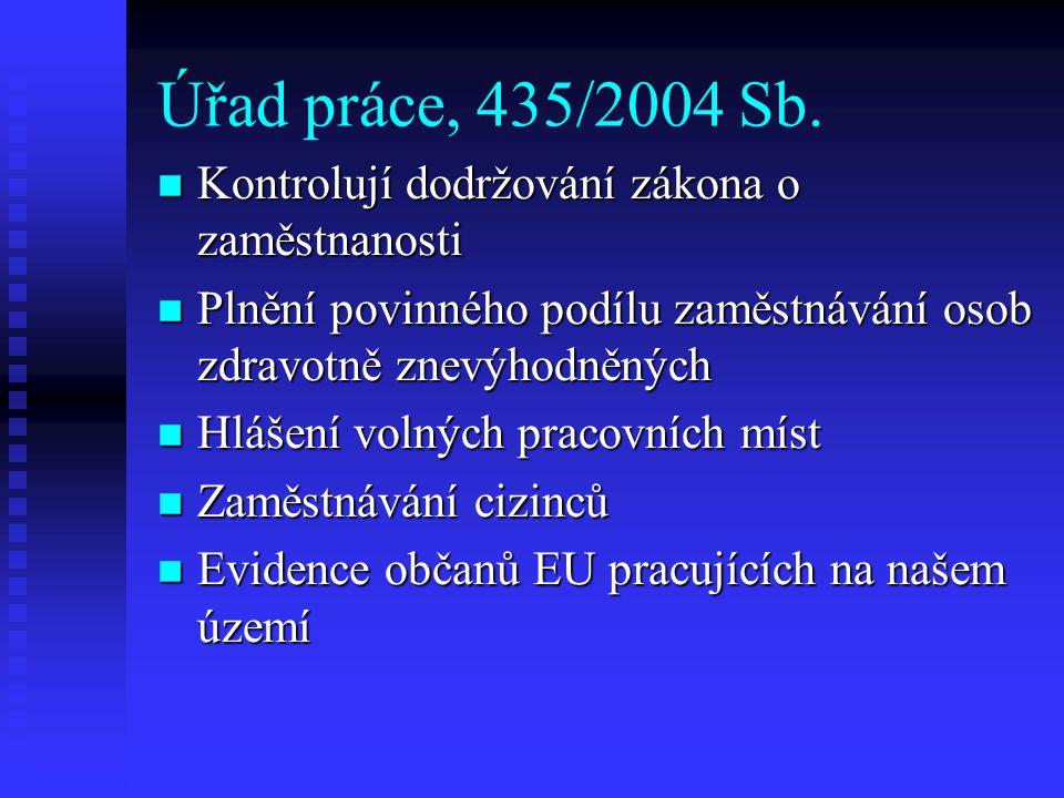 Úřad práce, 435/2004 Sb.