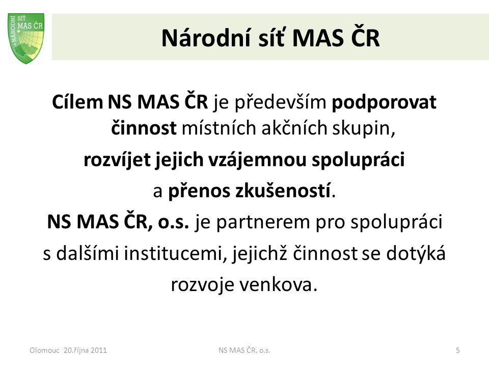 Olomouc 20.října 2011NS MAS ČR, o.s.16 PRIORITNÍ OSA IV.
