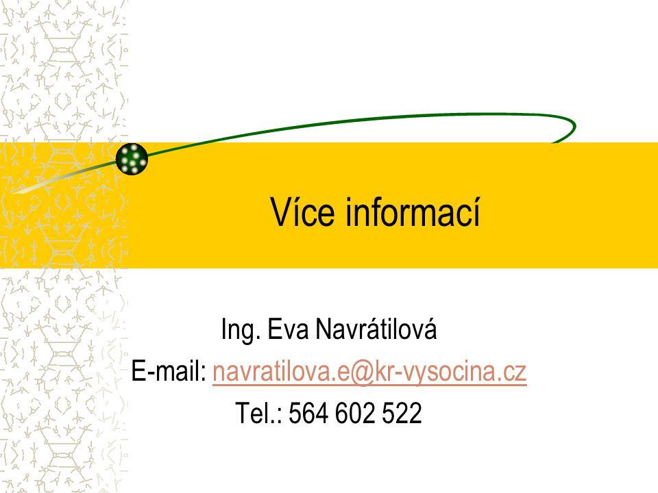 Více informací Ing.