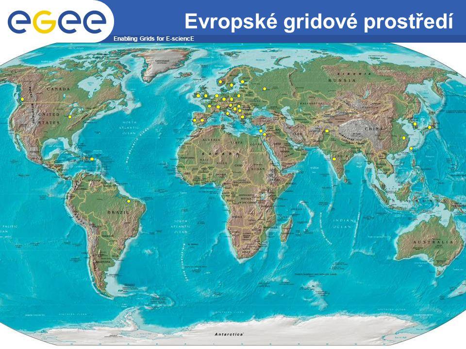 Enabling Grids for E-sciencE INFSO-RI-508833 Projekt EGEE je financován Evropskou Unií (smlouva číslo IST-2003-508833) 23 Evropské gridové prostředí
