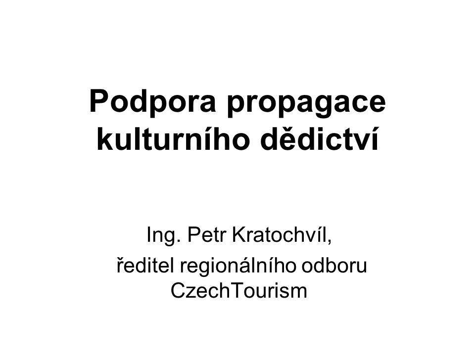 Podpora propagace kulturního dědictví Ing.