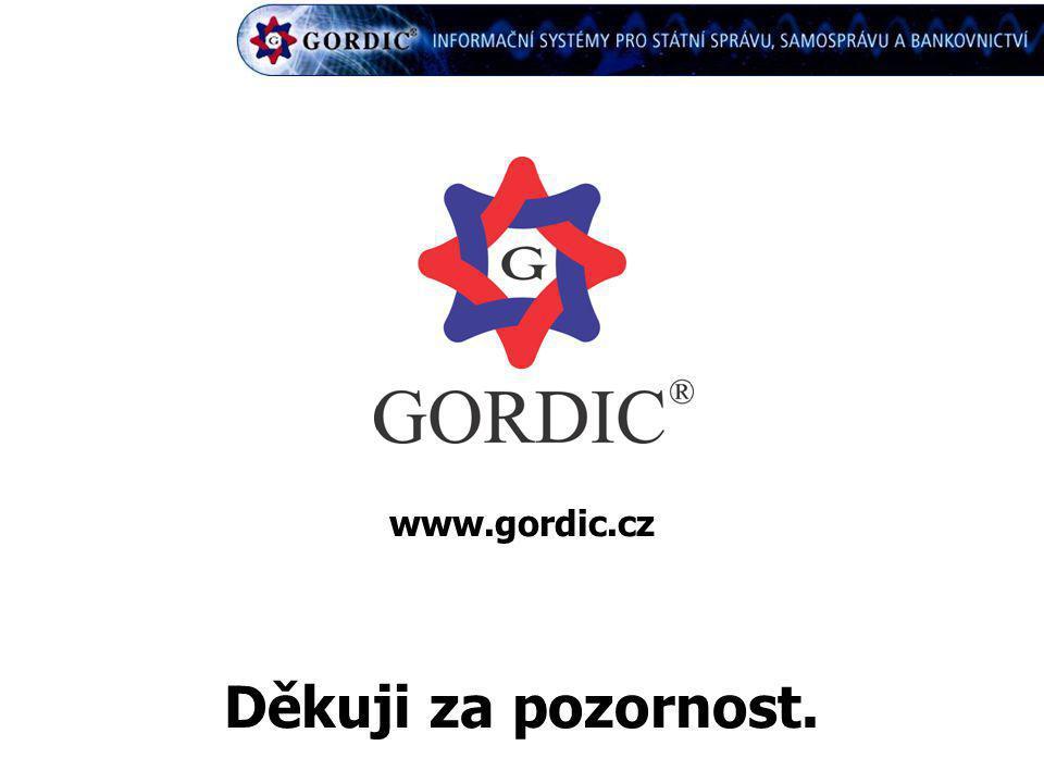 Děkuji za pozornost. www.gordic.cz