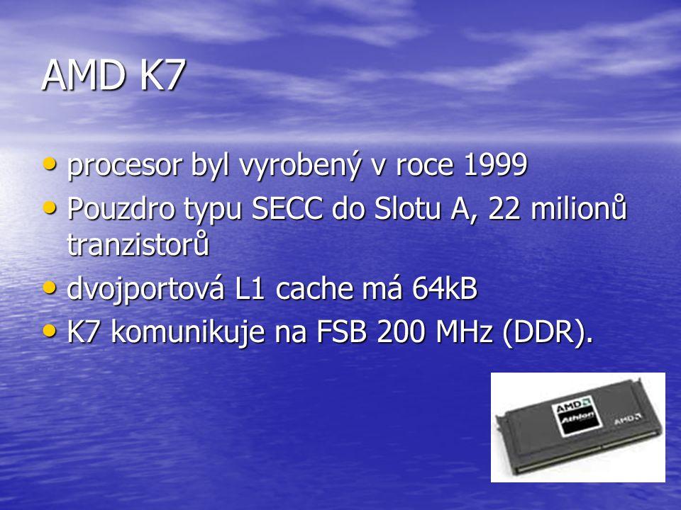 AMD K6 má interně mnohé znaky RISCových procesorů, zvládá ale i MMX instrukce a je plnohodnotnou alternativou Pentia MMX má interně mnohé znaky RISCov