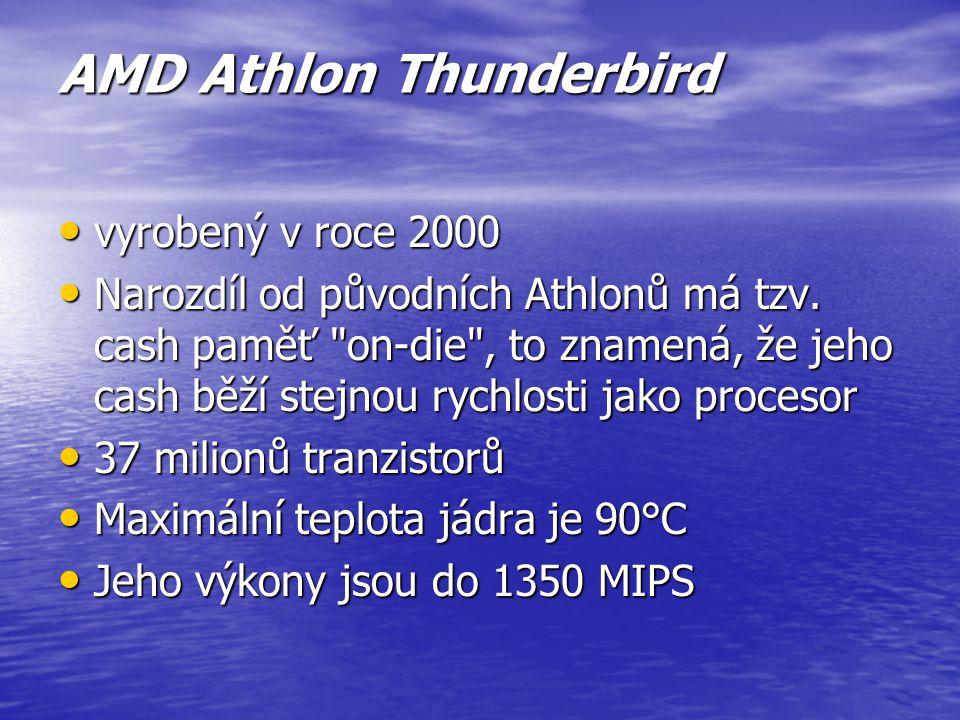 AMD K7 procesor byl vyrobený v roce 1999 procesor byl vyrobený v roce 1999 Pouzdro typu SECC do Slotu A, 22 milionů tranzistorů Pouzdro typu SECC do S
