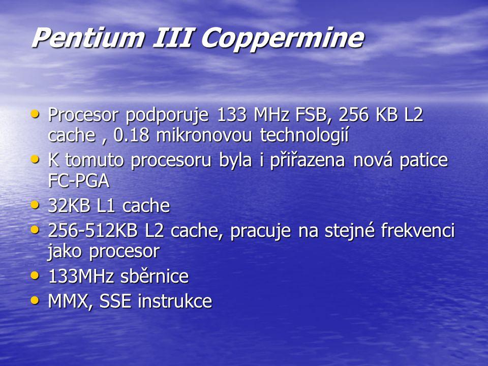 Pentium II vyrobeno 0.35 mikronovou technologií, později 0.25 mikronovou s menší spotřebou vyrobeno 0.35 mikronovou technologií, později 0.25 mikronov