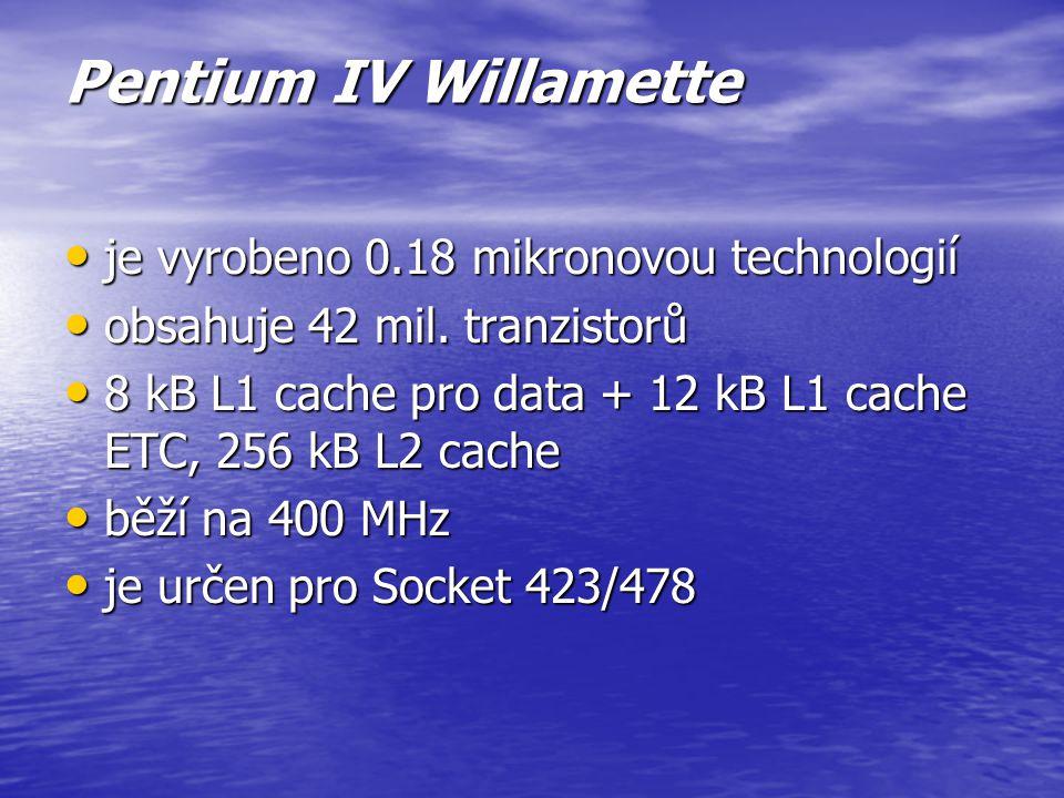 Pentium III Tualatin zmenšení výrobního procesu a umožnilo tak dosáhnout vyšších frekvencí a přitom snížit napájecí napětí a spotřebu procesoru zmenše