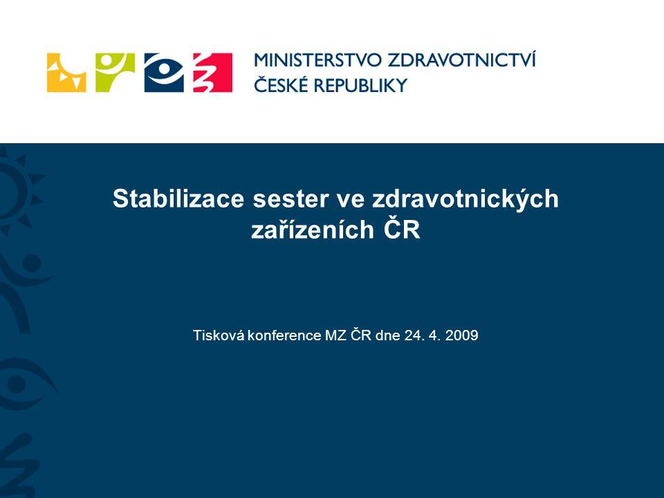 Stabilizace sester ve zdravotnických zařízeních ČR Tisková konference MZ ČR dne 24. 4. 2009