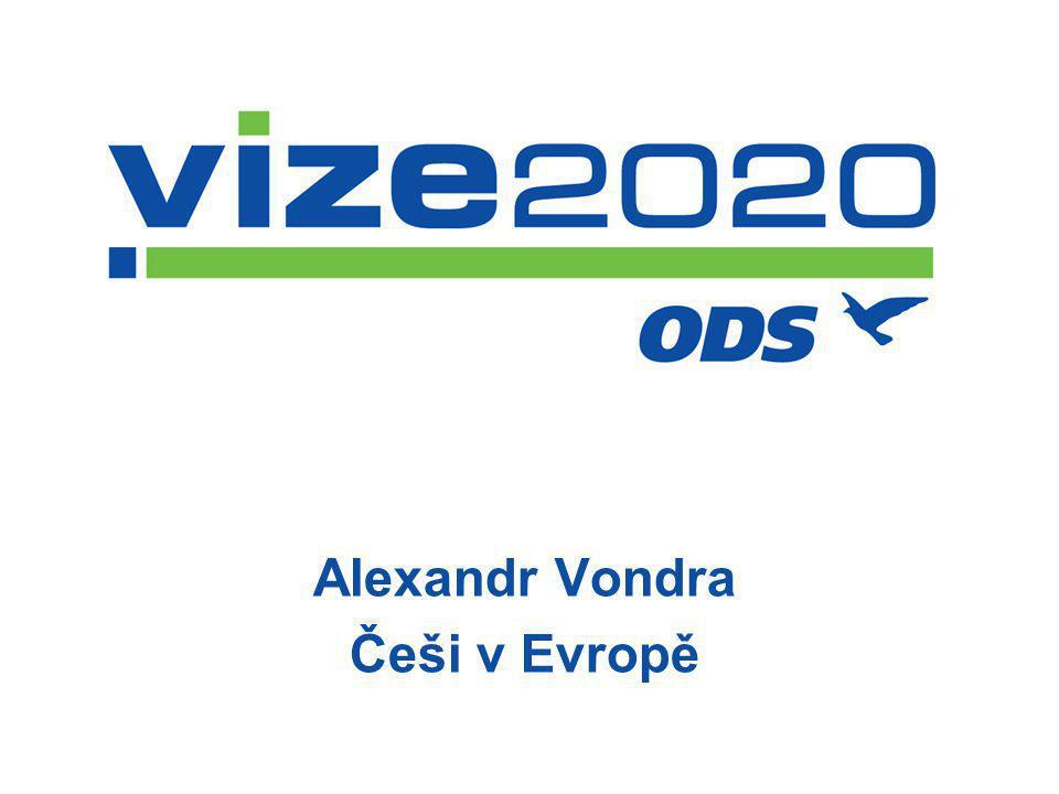 Alexandr Vondra Češi v Evropě