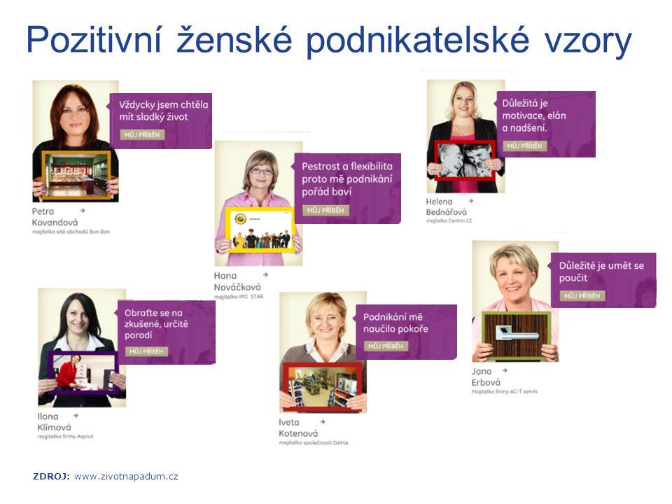 Pozitivní ženské podnikatelské vzory ZDROJ: www.zivotnapadum.cz