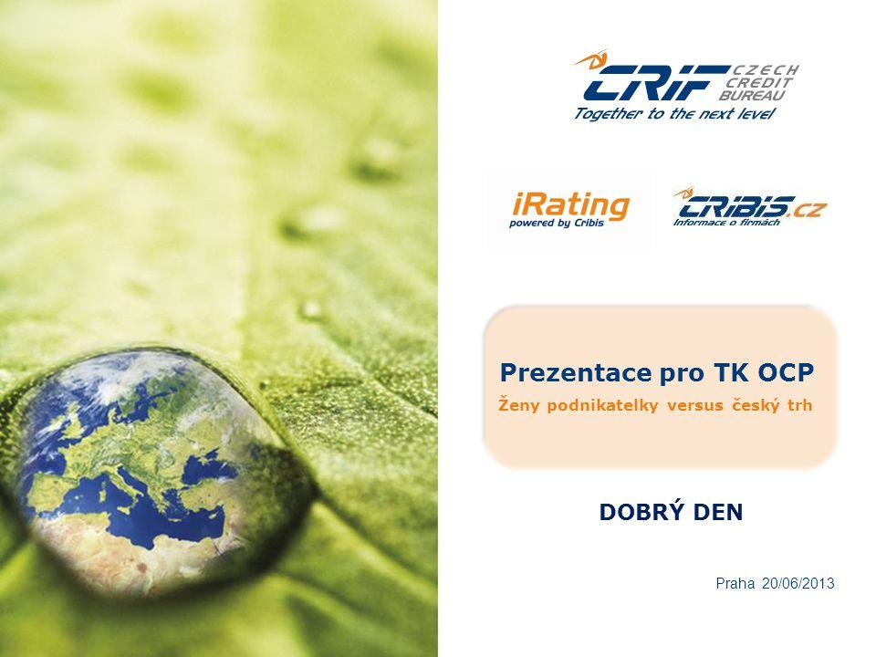 Prezentace pro TK OCP Ženy podnikatelky versus český trh Praha 20/06/2013 DOBRÝ DEN
