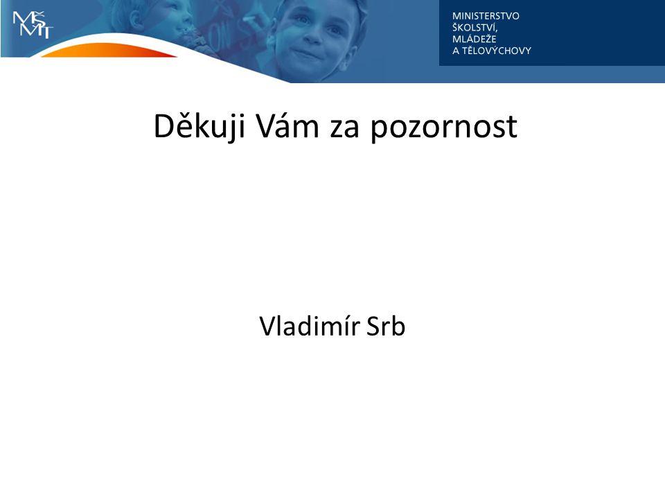 Děkuji Vám za pozornost Vladimír Srb